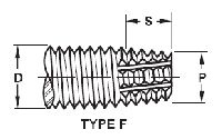 Type F Thread Cutting Screws for Sheet Metal, Casting and Plastic - Fine Thread