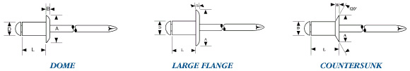 Dome - Large Flange - Countersunk